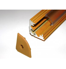 P3 LED profile 1m / 1000mm corner 45 aluminium extrusion, wood pine effect, plus diffuser