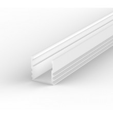 EH2 white 1m / 1000mm LED ALU high U-profile 15mm x 15mm with high quality diffuser