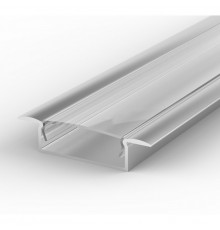EW1 1m / 1000mm recessed LED aluminium extrusion 30mm x 9mm with high quality diffuser
