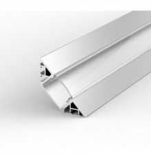 EH3 1m / 1000mm corner LED aluminium extrusion with high quality diffuser and end caps (option)