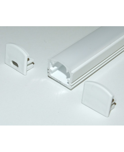 Sample of PH2 LED profile surface high extrusion, painted aluminium, white, with diffuser