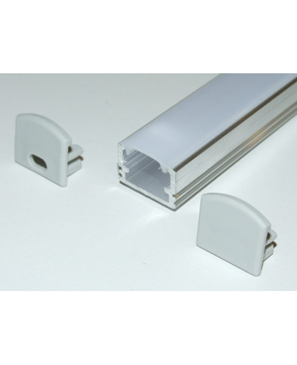 Sample of PH2 LED profile surface high extrusion, raw aluminium, with diffuser