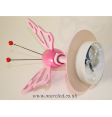 Hand-made Wall Spot Light / Lamp, Pink, Butterfly, Children Lighting