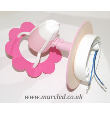 Hand-made Wall Spot Light / Lamp, Pink, Flower, Children Lighting