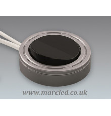 Main Switch, Furniture, 220V - 240V, 2.5A, aluminium look / black, Surface and Recessed Instalaltion