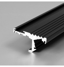 Aluminium LED profile S1 STEP edge, black anodized, 1000mm / 1m
