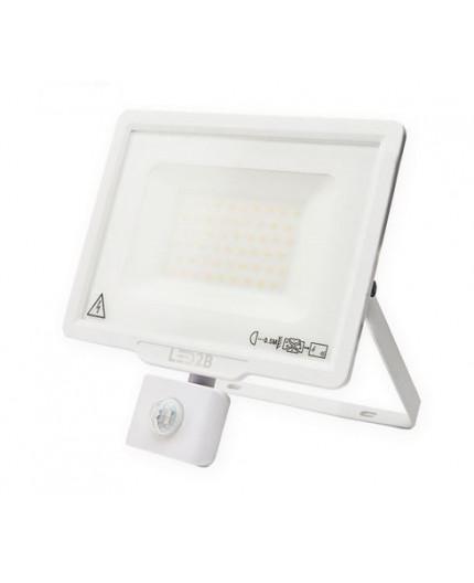 LED floodlight MHC with motion sensor 50W, white, warm white 3000K