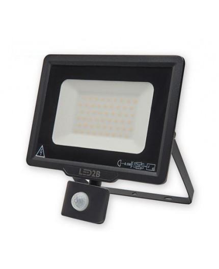 LED floodlight MHC with motion sensor 50W, black, cool white 6000K