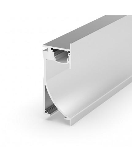 Sample of EA1 silver Asymmetric Alu-Wall LED Profile with high quality difuser