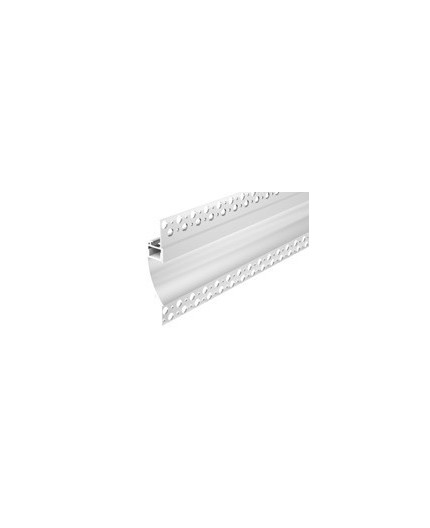 2m Plater-in LED profile DW2 for ceiling and drywall, set with opal cover
