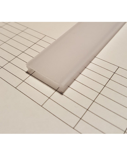 C2 1m / 1000mm extra diffuser / cover for LED profile