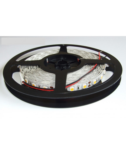 12VDC LED tape, cool white 4000K, 14.4W/m, 5m (72W, 300 LED), SMD5050