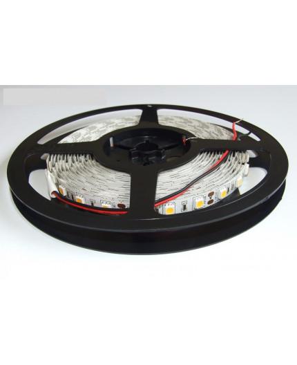 12VDC LED tape, warm white 3000K, 14.4W/m, 60LED/m, IP20, 5m, SMD5050