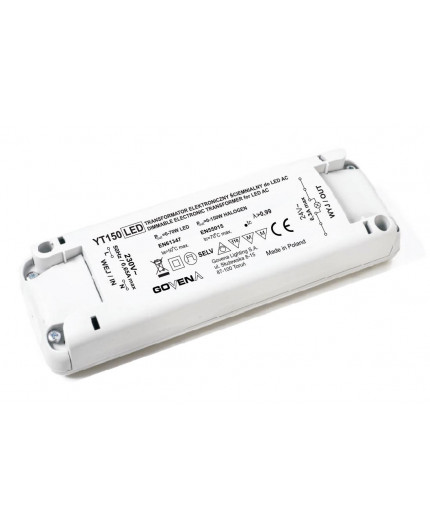 0 - 150W 24VAC Low Voltage Dimmable Electronic Transformer YT150/24