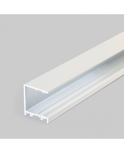 2m / 2000mm TCW2 LED profile (painted, white), Wall / Ceiling, set with opal cover