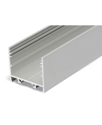 Sample of TXL2 LED profile (anodized, silver), 33mm x 30mm, set with opal cover