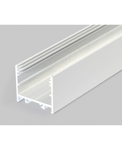 Sample of TXL2 LED profile (painted, white), 33mm x 30mm, set with opal cover