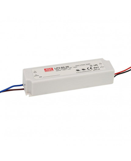 60W 12Vdc Single Output LED Driver, Mean Well