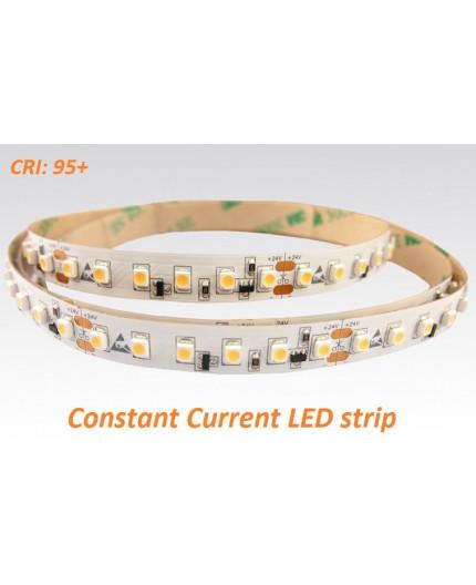 24VDC constant current LED tape, 3000K, 9.6W/m, 120LED/m, 15m (144W, 1800 LED), IP20, SMD3528