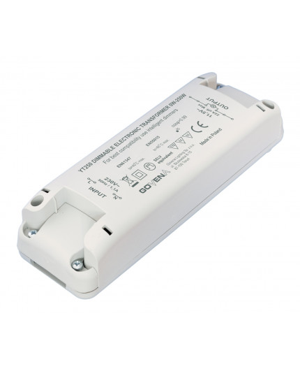 0 - 250W 12VAC Low Voltage Dimmable Electronic Transformer YT250