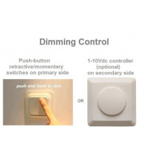 LCC9 driver and dimmer for constant current and voltage LED lights up to 9W