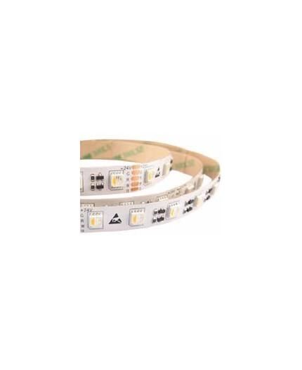 24VDC LED tape, RGBW 2700K, 19.2W/m, 60LED/m, IP54, 5m (96W, 300 LED), SMD5050