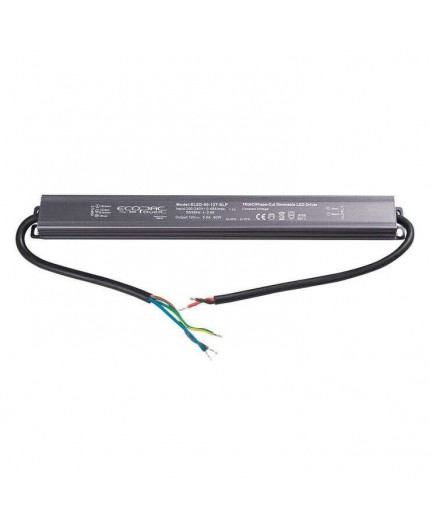60W, ELED-60-12T-SLP, Mains to 12Vdc Triac dimmable LED driver, IP66
