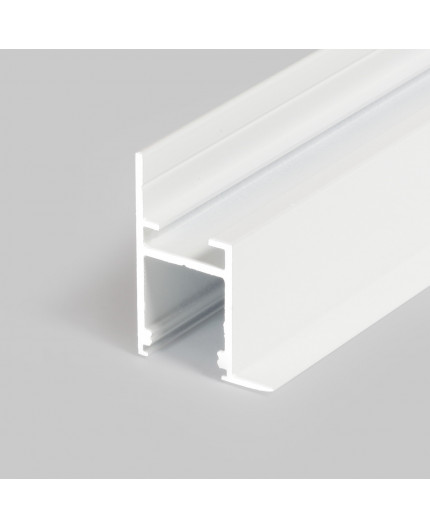 Sample of Alu-Ceiling LED profile C1 (painted, white) for plaster boards, diffuser
