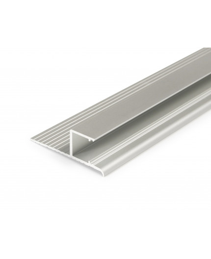 2m Plater-in LED profile DWT1 for ceiling and drywall, set with opal cover