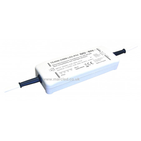 0 - 40W 12Vdc Dimmable (trailing edge) Electronic Transformer for LEDs, TE40W-DIMM-LED-IP64