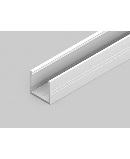 Sample of TH2 LED profile (painted, white), 18mm x 18mm, set with opal cover