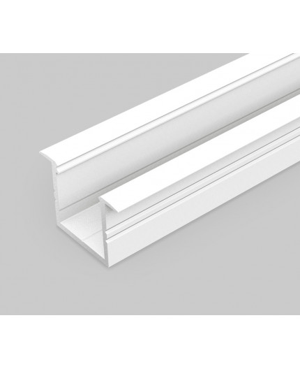 2m LED profile TH1 (painted, white), set with opal cover