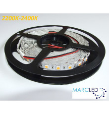 24VDC LED Flexible Strip 2200K-2400K SMD5060, 14.4W/m, 60 LEDs/m, IP20, 5m (72W, 300LEDs)