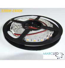 24VDC LED Flexible Strip 2200K-2400K SMD5060, 14.4W/m, 60 LEDs/m, IP20, 5m (72W, 300LEDs)