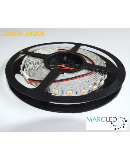 24VDC LED tape, warm white 2200K, 14.4W/m, 60LED/m, IP20, 5m, SMD5050