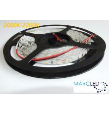 12VDC LED Flexible Strip 2000K-2200K SMD3528 60 LEDs/m, 4.8W/m, IP20, 5m (24W, 300LEDs)