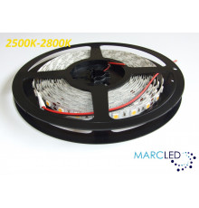 24VDC LED Flexible Strip (tape) 2700K SMD5060, 14.4W/m, 60 LEDs/m, IP20, 5m (5000mm)