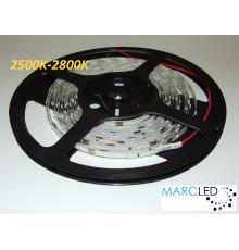 12VDC Super Slim LED Flexible Strip, 2700K, SMD3014, 60 LEDs/m, 4.8W/m, 5mm PCB, IP20, 5m  (5000mm)