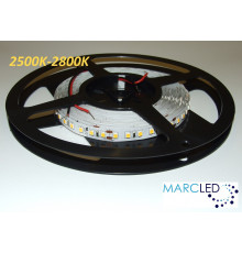 24VDC LED Flexible Strip 2500K-2800K SMD2835, 16W/m, 120 LEDs/m, IP20, 5m a roll  (5000mm, 80W, 600LEDs)