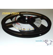 24VDC LED Flexible Strip 2500K-2800K SMD2835, 16W/m, 120 LEDs/m, IP20, 5m a roll  (5000mm, 80W, 600LEDs)