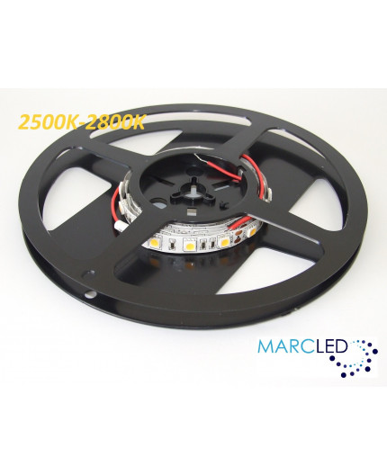 12VDC LED tape, warm white 2700K, 14.4W/m, 60LED/m, IP20, 1m, SMD5050