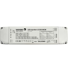 DALI, DMX, LCC60MCM driver and dimmer for LED lights, up to 2x30W