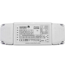 LCC30 driver and dimmer for constant current and voltage LED lights up to 30W