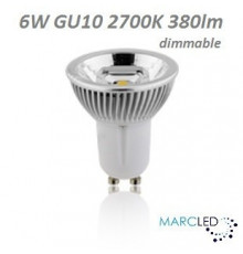 5.5w Spotlight GU10 3000K 345lm, Dimmable