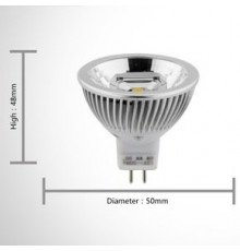 5W GU5.3 MR16 12V LED Spot Lamp, Spotlight, Warm White, Non-dimmable