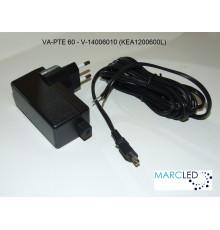 VA-PTE 60,  20W - 60W, 12V electronic plug-in transformer, Vadsbo,
