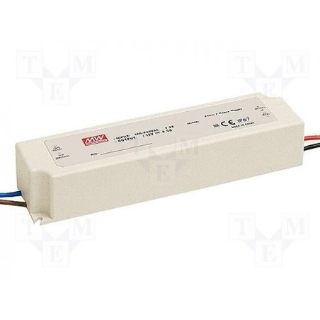 100W 24Vdc Single Output LED Driver, Mean Well, LPV-100-24
