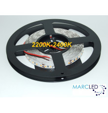 24VDC LED Flexible Strip 2200K-2400K (very warm white) SMD2835, 16W/m, 120 LEDs/m, IP20, 5m a roll  (5000mm, 80W, 600LEDs)