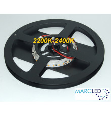24VDC LED Flexible Strip 2200K-2400K (very warm white) SMD2835, 16W/m, 120 LEDs/m, IP20, 1m a roll