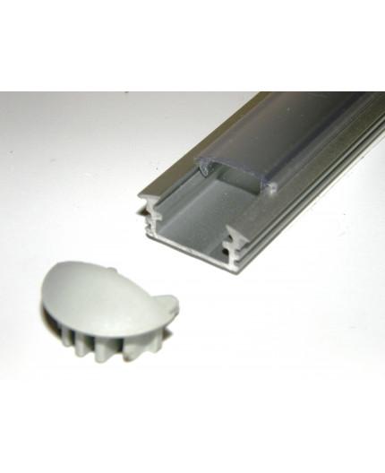P1 anodized silver LED aluminium profile / extrusion with diffuser